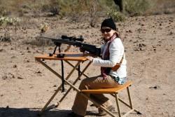 Sniper Mandi on the rifle bench