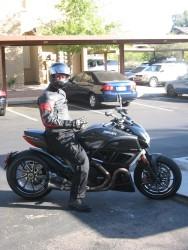 Highlight for Album: Ducati Diavel test ride at the Go AZ Ducati dealer.