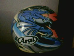 Highlight for Album: My Motorcycle Helmets and misc. bike gear.