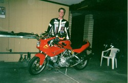 My Ducati 1 week 6 days before the drunk driver got us.