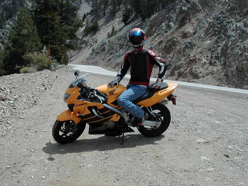 Me posing on the Angeles Crest HWY 2 in the mountains near Wrightwood, CA.